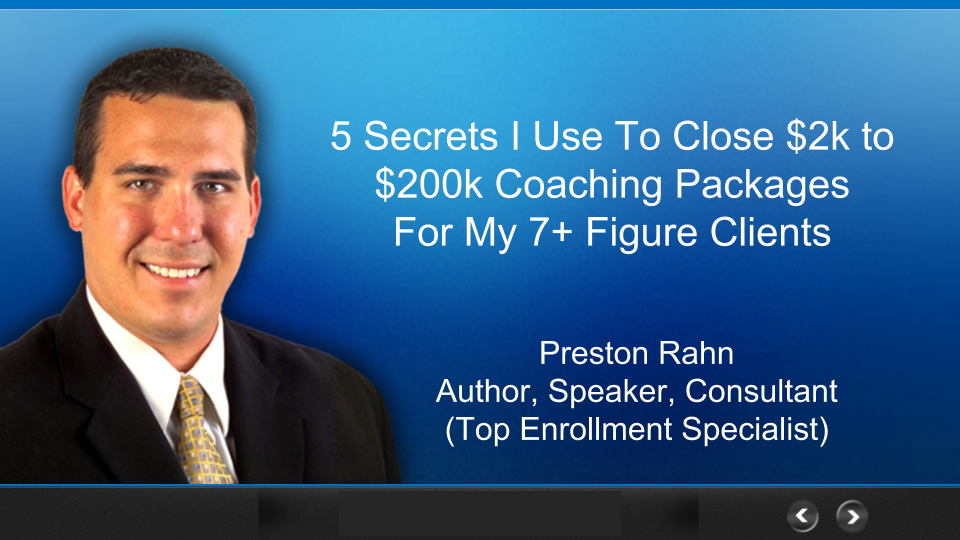 High Ticket Enrollment Secrets Free Presentation - NEW
